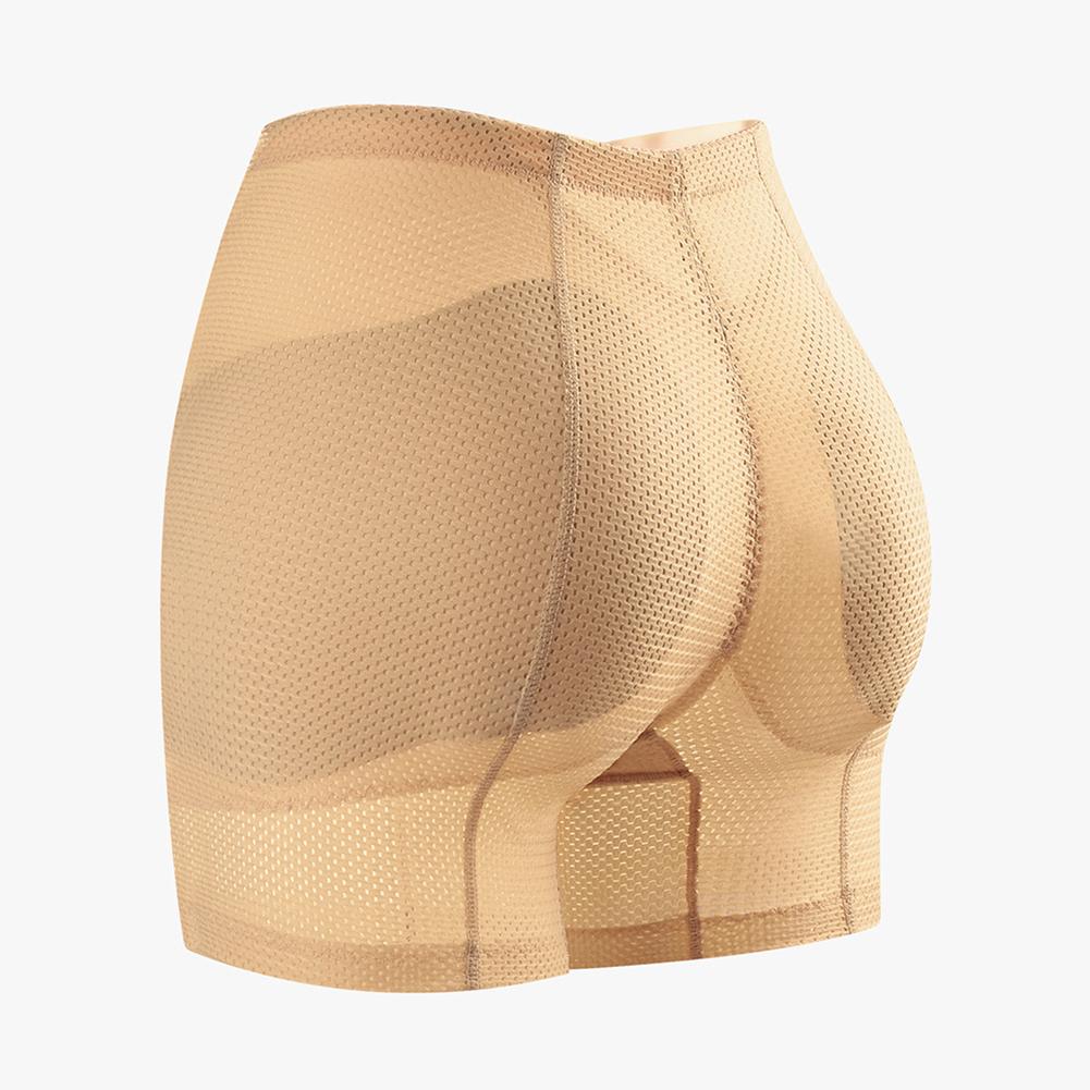 Women Middle Waist Body Shaper Underwear Hip-lifting Beauty Shapewear Underpants skin color_XL