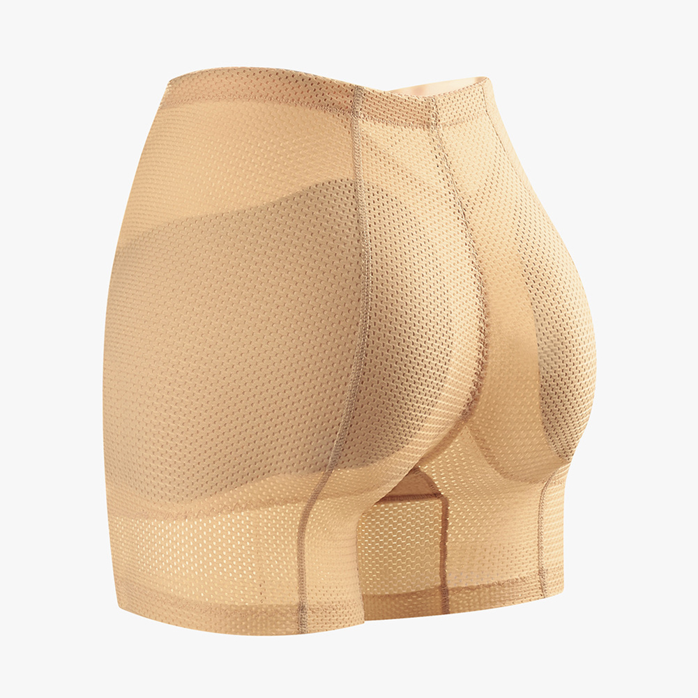 Women Middle Waist Body Shaper Underwear Hip-lifting Beauty Shapewear Underpants skin color_XXL