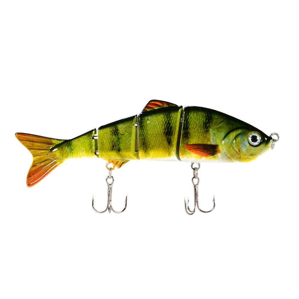 [EU Direct] Fishing Lure 4 Sections Swimbait Bait Tackle 1