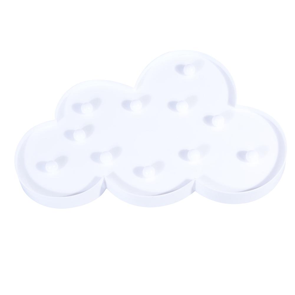 [EU Direct] Creative Euramerican Energy Saving Clouds Plastic Night Light LED 3W Warm White Light White