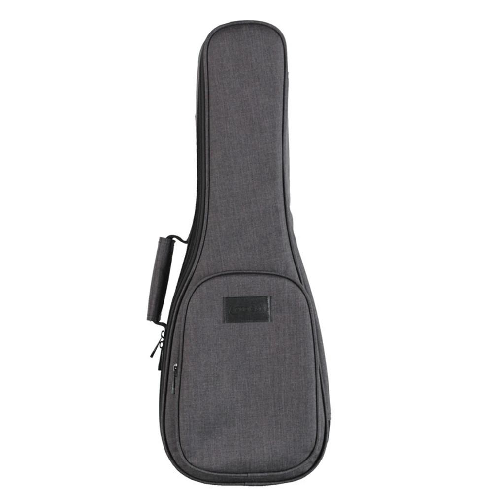 Ukulele Bag Ukulele Storage Pouch Thicken Cotton 15mm Carrying Case Ukulele Backpack heather grey_26 inches