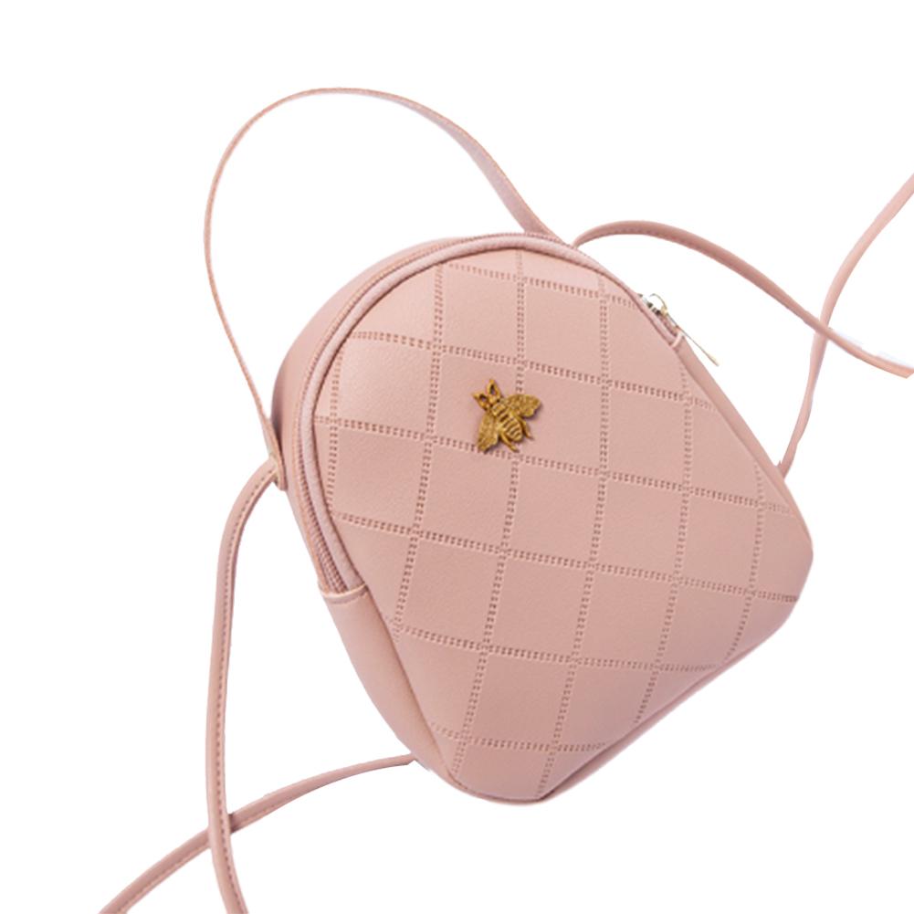 Woman Casual Shoulder Satchel Singal Shoulder Belt Bag Shoulder Satchel Pink