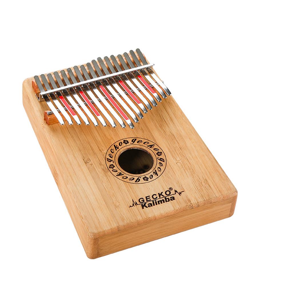 17 Key Wooden Thumb Piano Kalimba B Music Instrument Toy Gift red