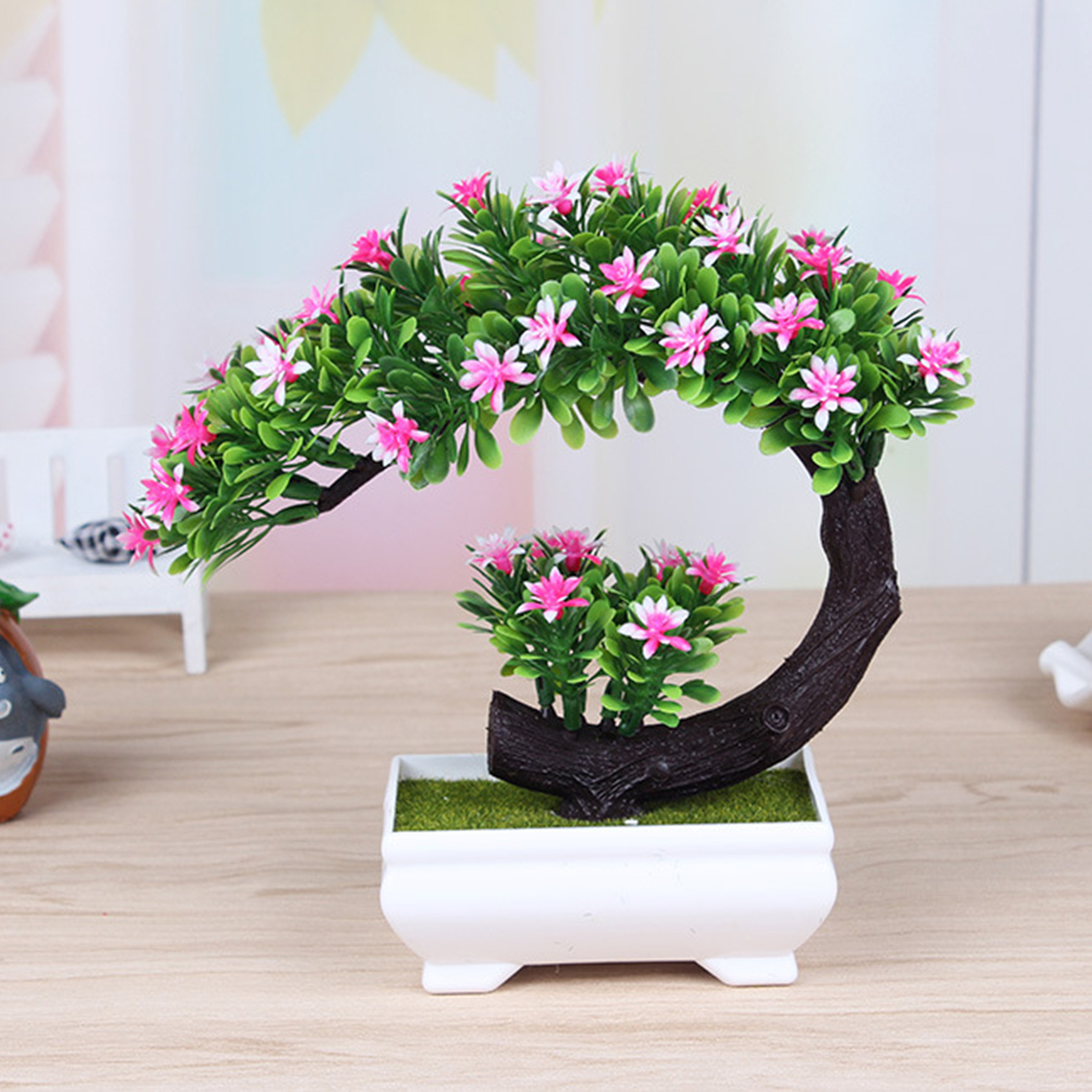 Creative Artificial Flower Bonsai Simulation Fake Plants for Home Office Decoration Pink