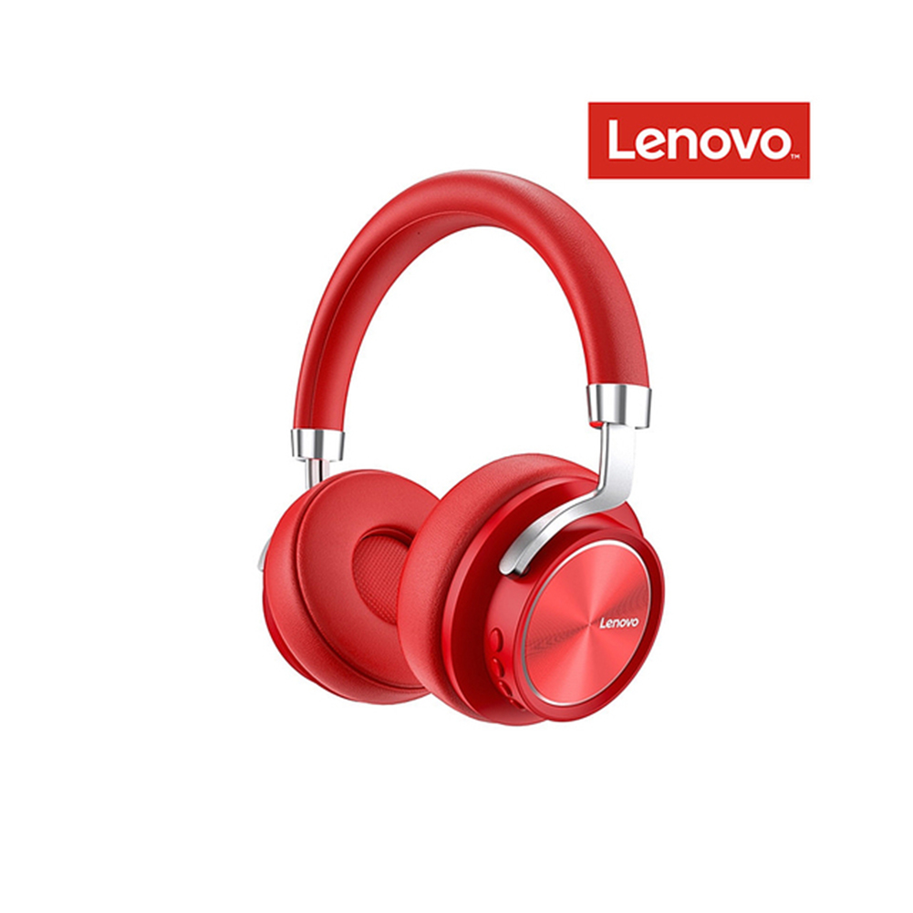 Original LENOVO Hd800 Bluetooth 5.0 Headset Wireless Foldable Noise Cancelling Sport Stereo Gaming  Earphone red