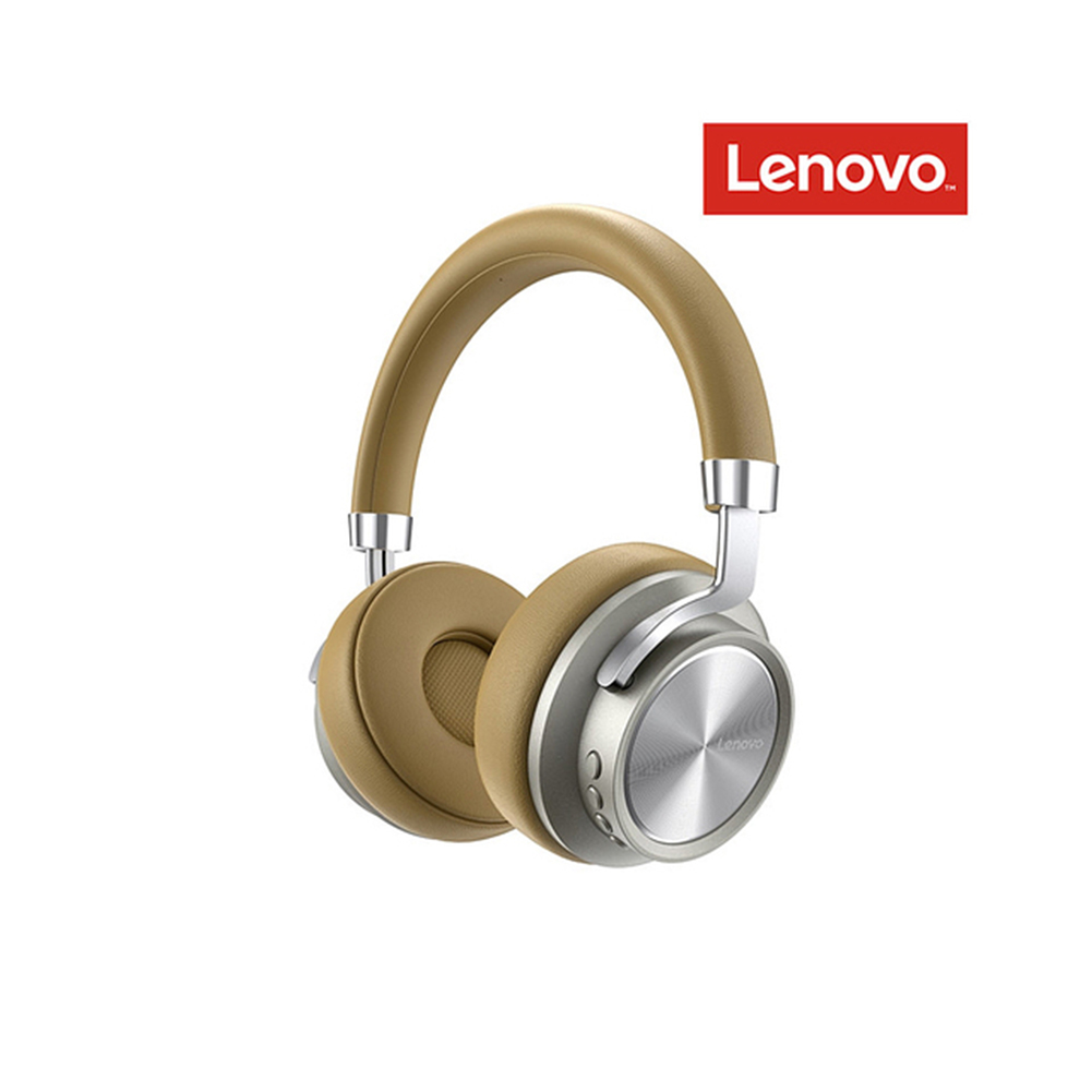 Original LENOVO Hd800 Bluetooth 5.0 Headset Wireless Foldable Noise Cancelling Sport Stereo Gaming  Earphone Golden