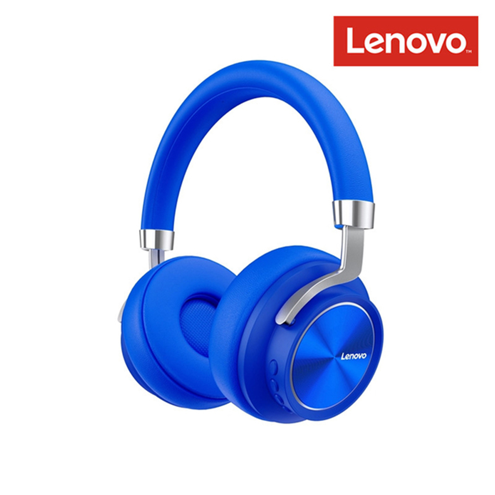 Original LENOVO Hd800 Bluetooth 5.0 Headset Wireless Foldable Noise Cancelling Sport Stereo Gaming  Earphone blue