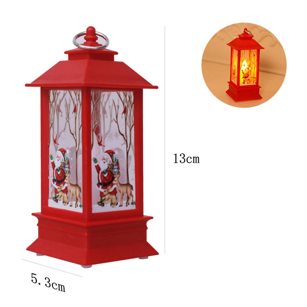 Christmas Wind Light LED Electronic Candle Table Lamp Night Light Santa Snowman Decoration Desktop Ornament Red santa