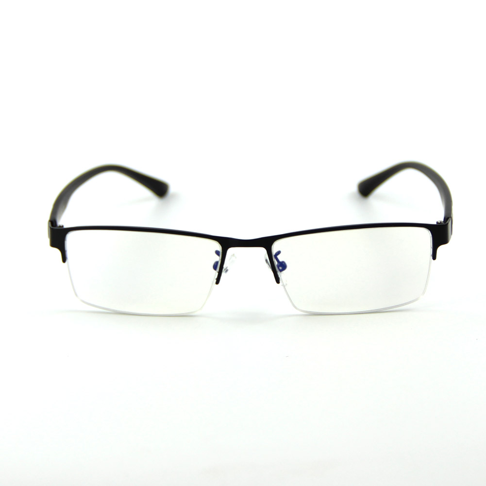 [US Direct] Cyxus Anti Blue Light Computer Glasses for Blocking UV Eye Strain Headache, Reading Eyewear (8065T01, Bright Black) Block Droplets Black Browline_M