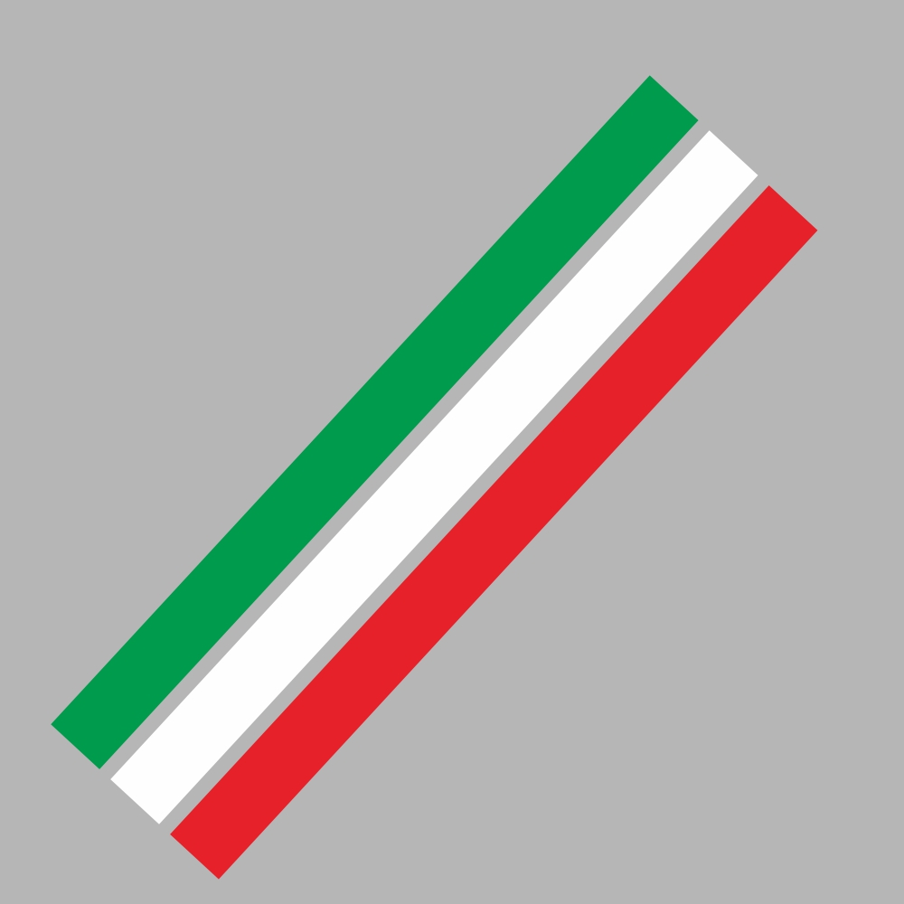 D-1045 Tricolor Lines Custom Vinyl Decal Car Body Door Side Stickers Stripes Racing Style for Bmw Audi Kia Honda Toyota Style 5