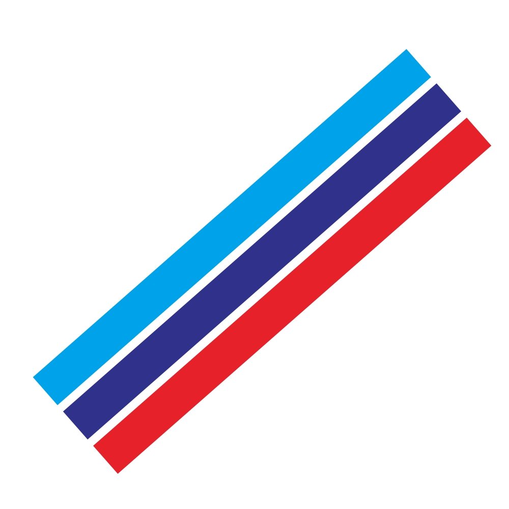D-1045 Tricolor Lines Custom Vinyl Decal Car Body Door Side Stickers Stripes Racing Style for Bmw Audi Kia Honda Toyota Style 4