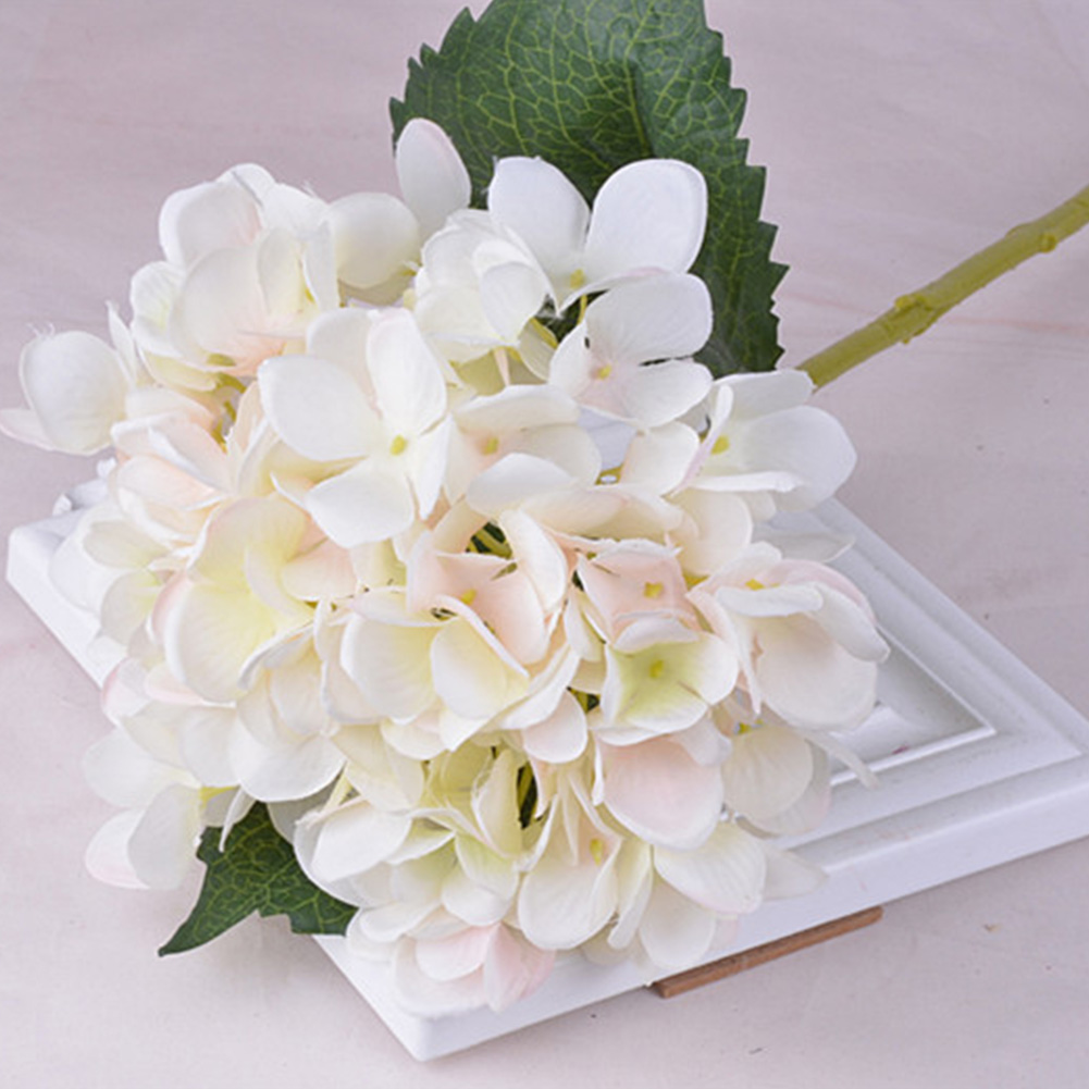 Beautiful Exquisite Silk Flowers Bridal Bouquet Gorgeous Hydrangea Home Decoration Photographing Props