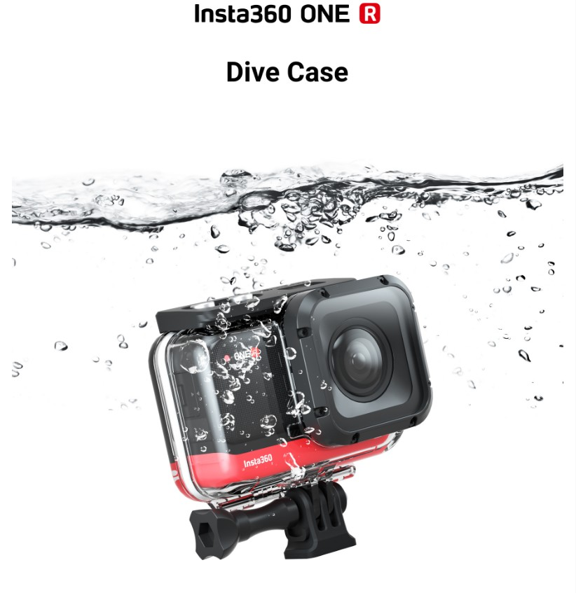 60m Insta360 ONE R Dive Case Insta 360 ONE R Waterproof Cover Housing Accessory For 4K Wide Angle Mod