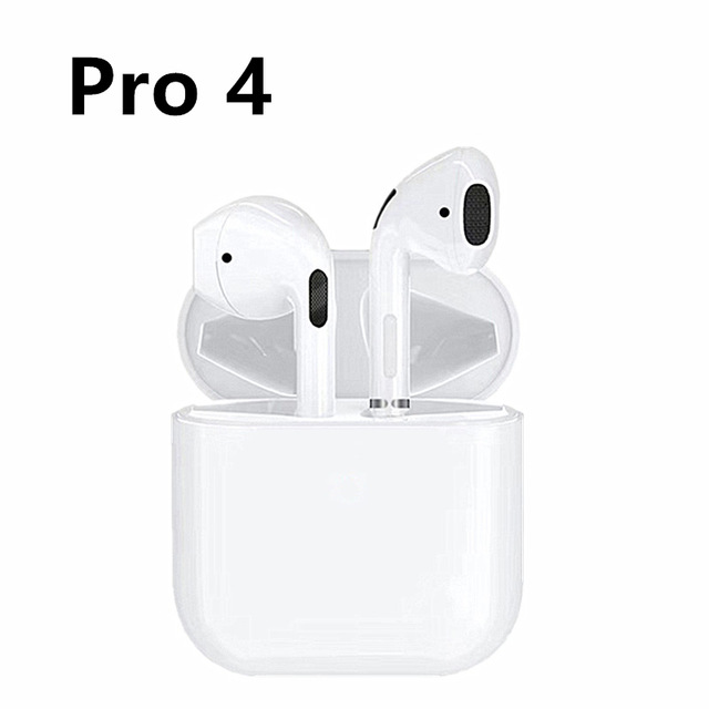 Pro 4 Bluetooth Earphones Touch Control Wireless Headphone Hands-free Headset white