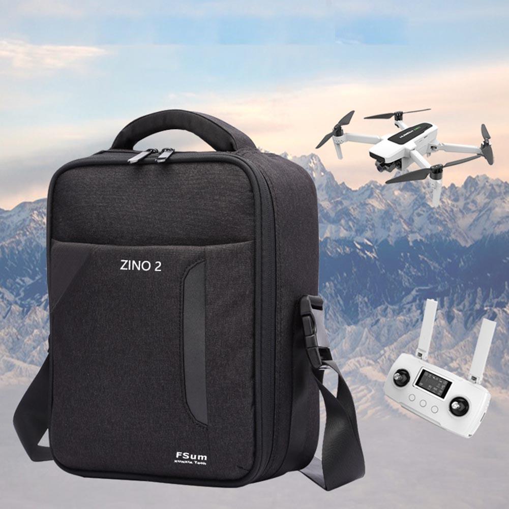 Carrying Bag Portable Travel Shoulder Bag Protective Storage Case for Hubsan Zino2 Drone black