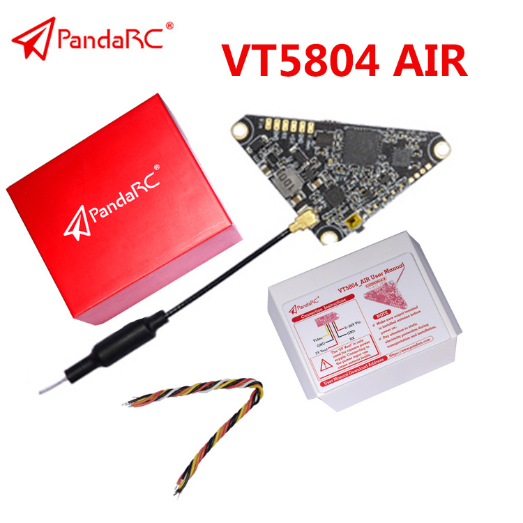 PandaRC VT5804 AIR 5.8GHz 40CH 0/25/50/100/200/400mW FPV Video Transmitter Triangle VTX Support OSD For RC Racer Drone VT5804 AIR