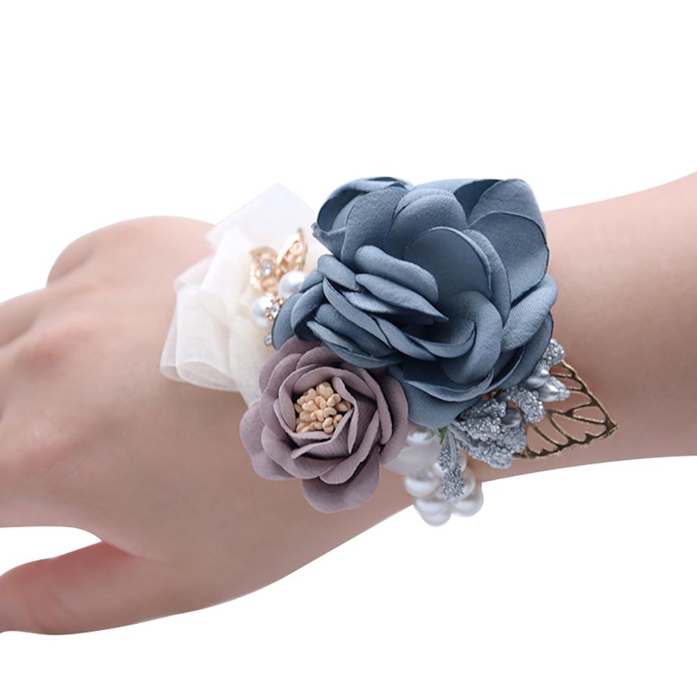 Beautiful Wrist Flower Brooch for Wedding Party Bride Bridesmaid Wear
