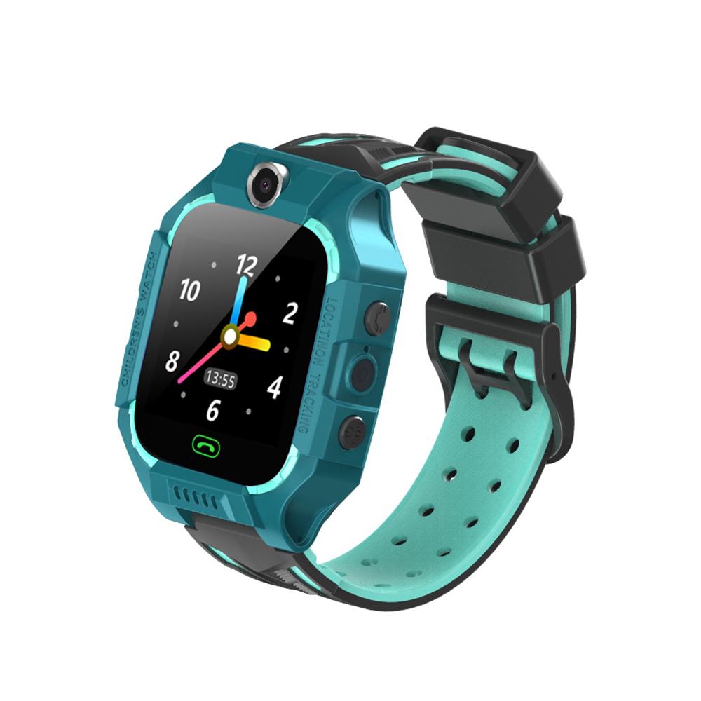 E12 Smart Watch Children Telephone Intelligent Watch Smartwatch LBS Location One-button SOS Remote Watches Clock black+green