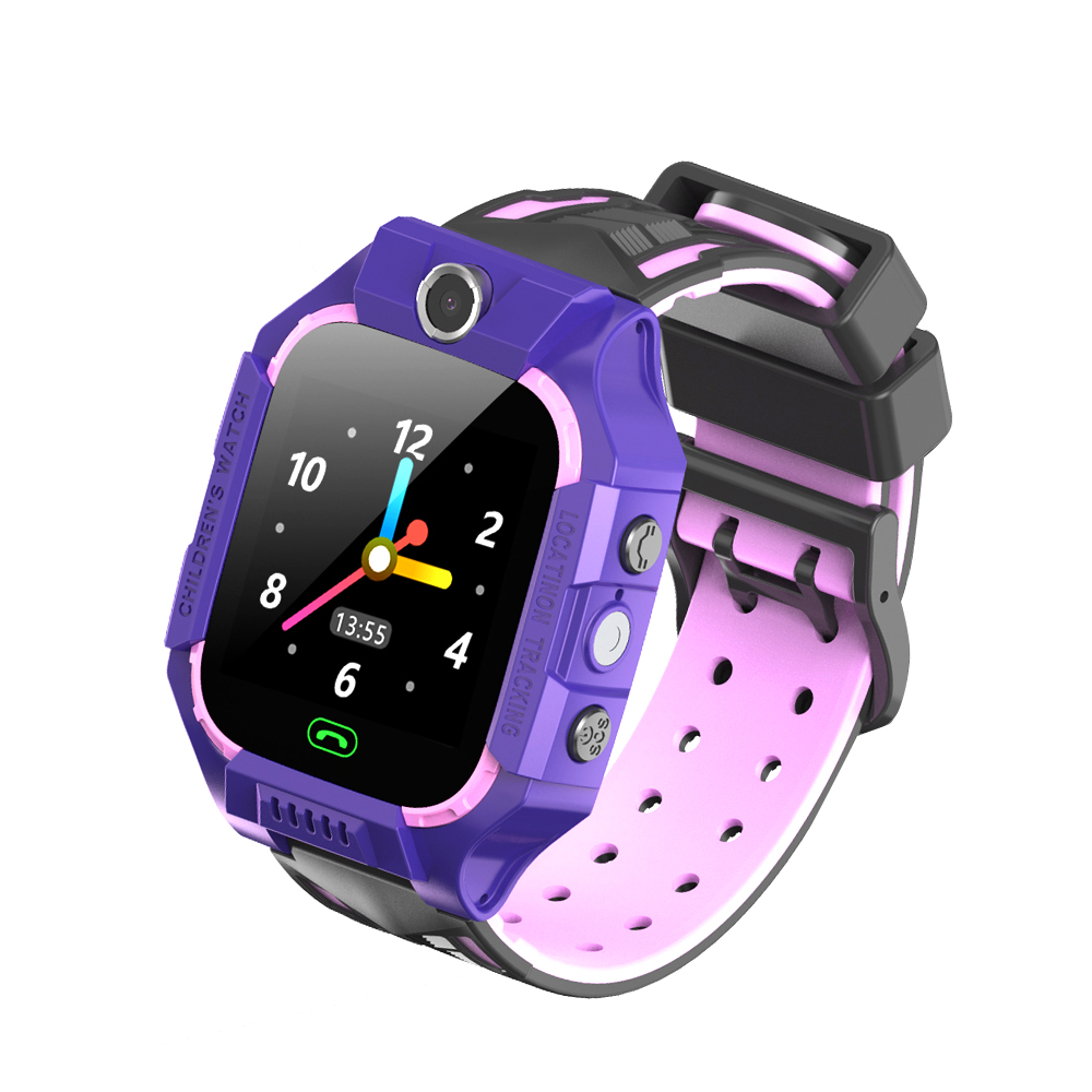 E12 Smart Watch Children Telephone Intelligent Watch Smartwatch LBS Location One-button SOS Remote Watches Clock black+pink
