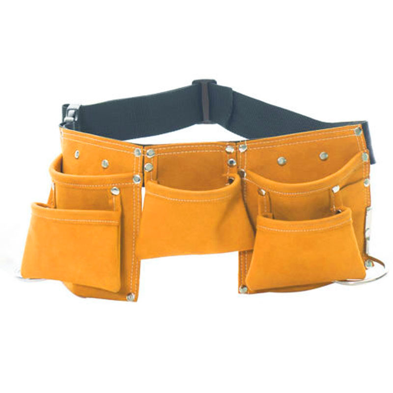 Kids Leather Toolkit Tool Pouch Pockets