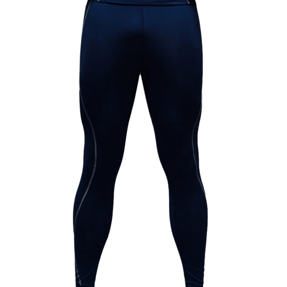 Men's Sports Pants Quick-drying Tight Sweat-wicking Sports Trousers Navy _XL