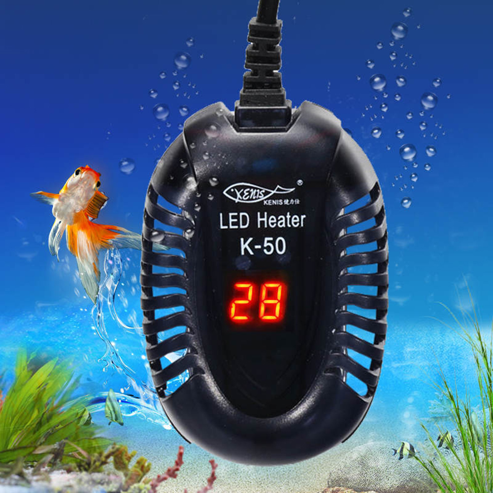 Heating  Rod Low Water Level Mini Short Heater Automatic Electricheating Rods Fish Bowl Digital Temperature Controller For Tortoise 100w