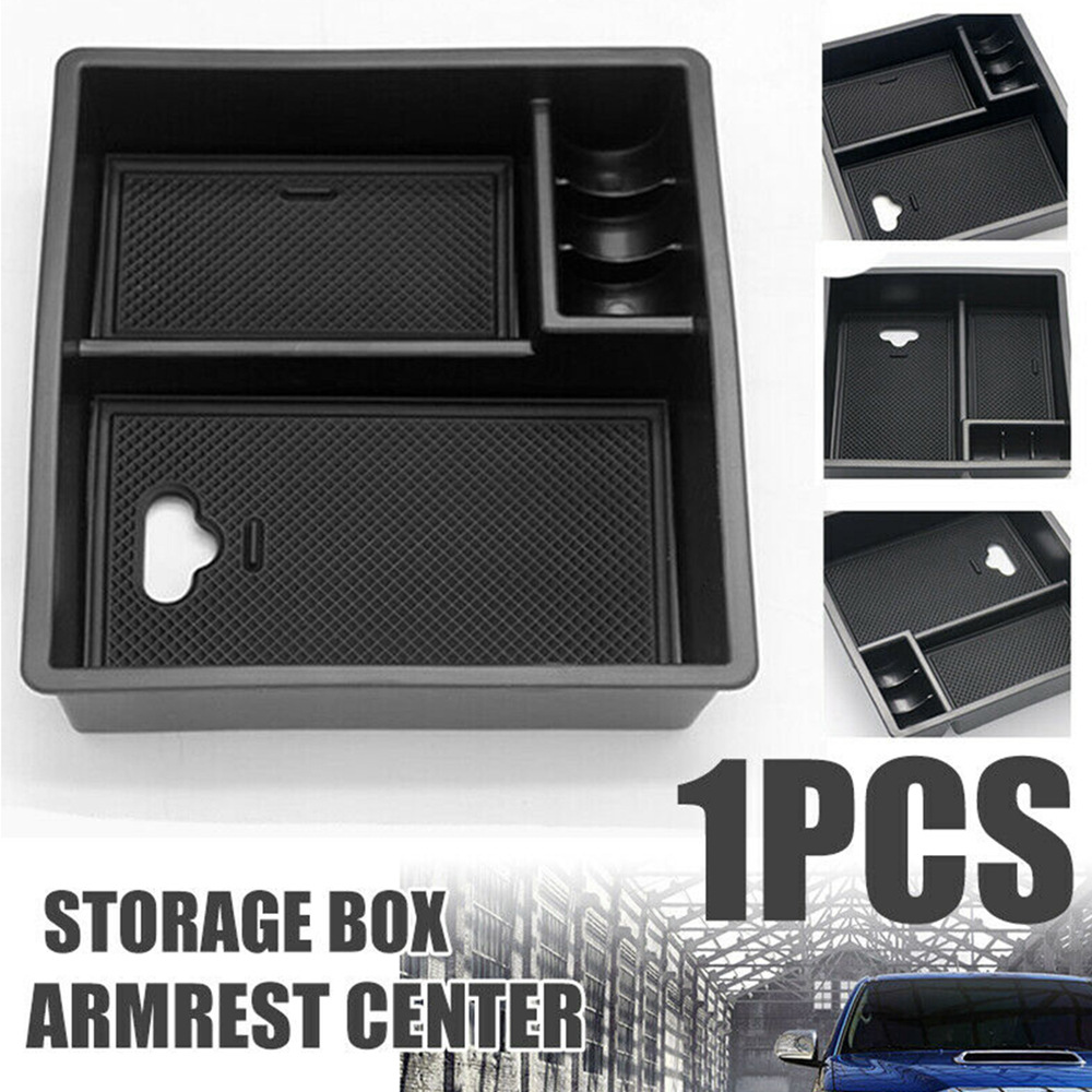 Car Armrest Center Console Central Handrails Box Storage For Toyota Hilux Armrest Container Stowing Box black