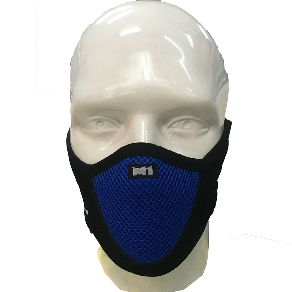 Outdoor Cycling Mask Anti-dusk Wind Proof Anti Pollution Breathable blue_One size
