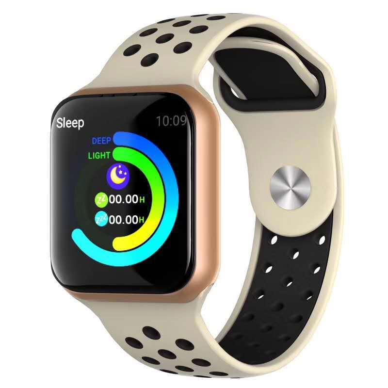 F8 Bluetooth Smart Watch Heart Rate Monitor Calories Fitness Tracker Alarm Clock IP67 Waterproof Sports Smart Bracelet gold