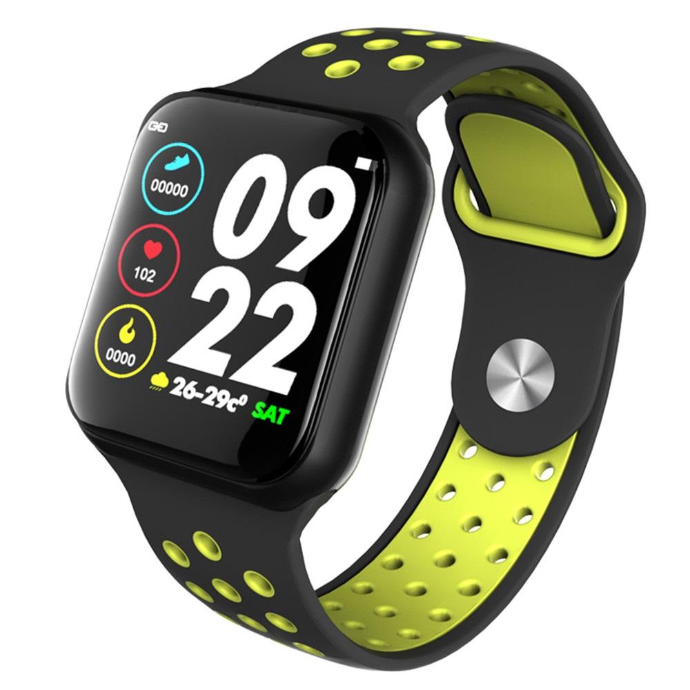 F8 Bluetooth Smart Watch Heart Rate Monitor Calories Fitness Tracker Alarm Clock IP67 Waterproof Sports Smart Bracelet green