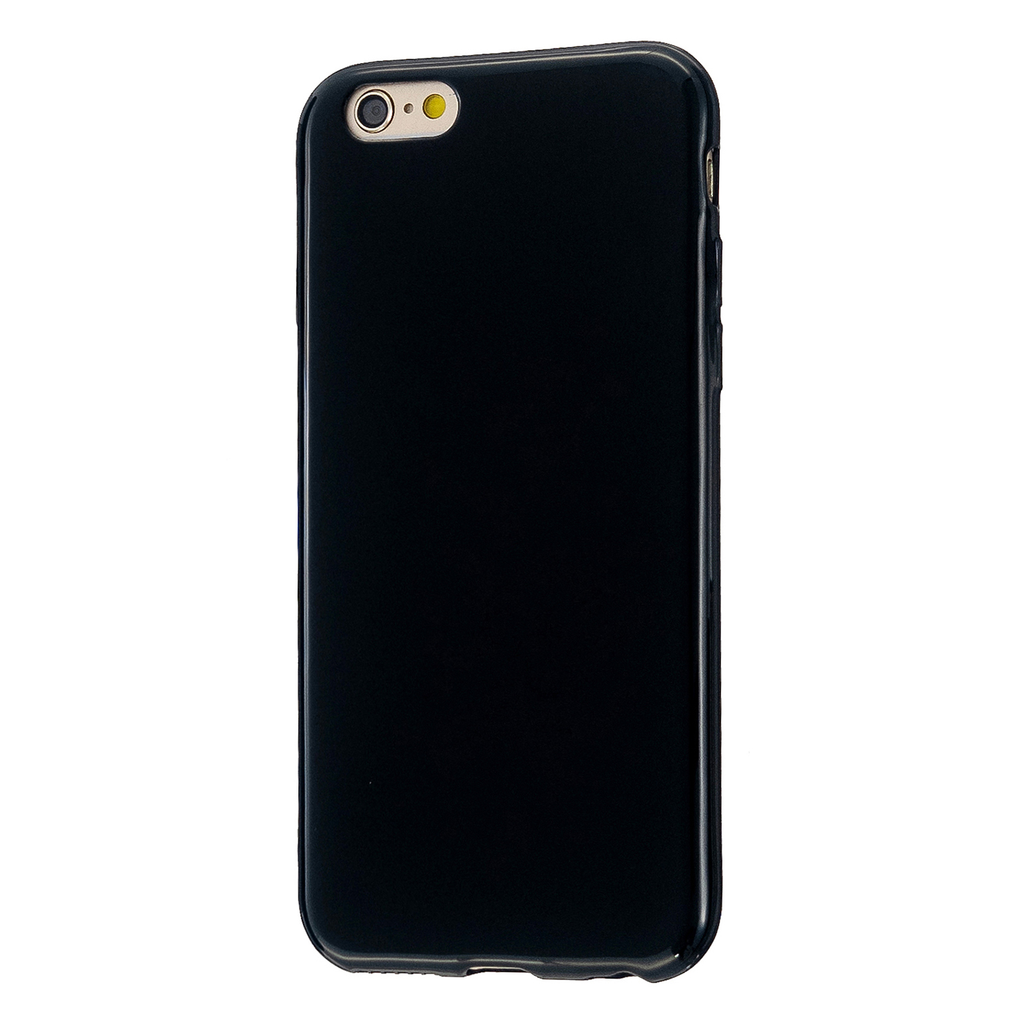 For iPhone 5/5S/SE/6/6S/6 Plus/6S Plus/7/8/7 Plus/8 Plus Cellphone Cover Soft TPU Bumper Protector Phone Shell Bright black