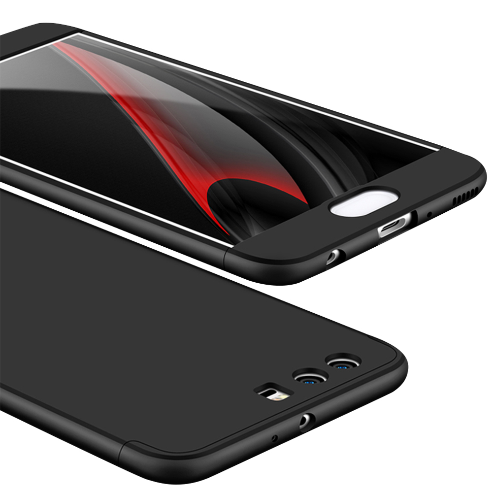 For HUAWEI P10 3 in 1 360 Degree Non-slip Shockproof Full Protective Case black