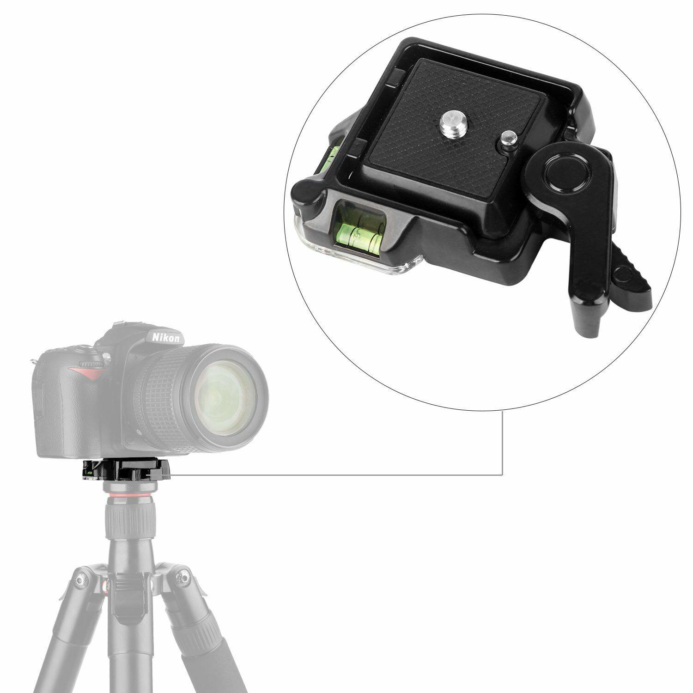 Camera Camcorder Tripod Monopod Ball Head Quick Release Plate Clamp Adapter  black
