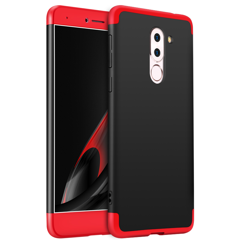 For HUAWEI Honor 6X/GR5 2017 3 in 1 Hybrid Hard Case Full Body 360 Degree Protection Back Cover  Red black red