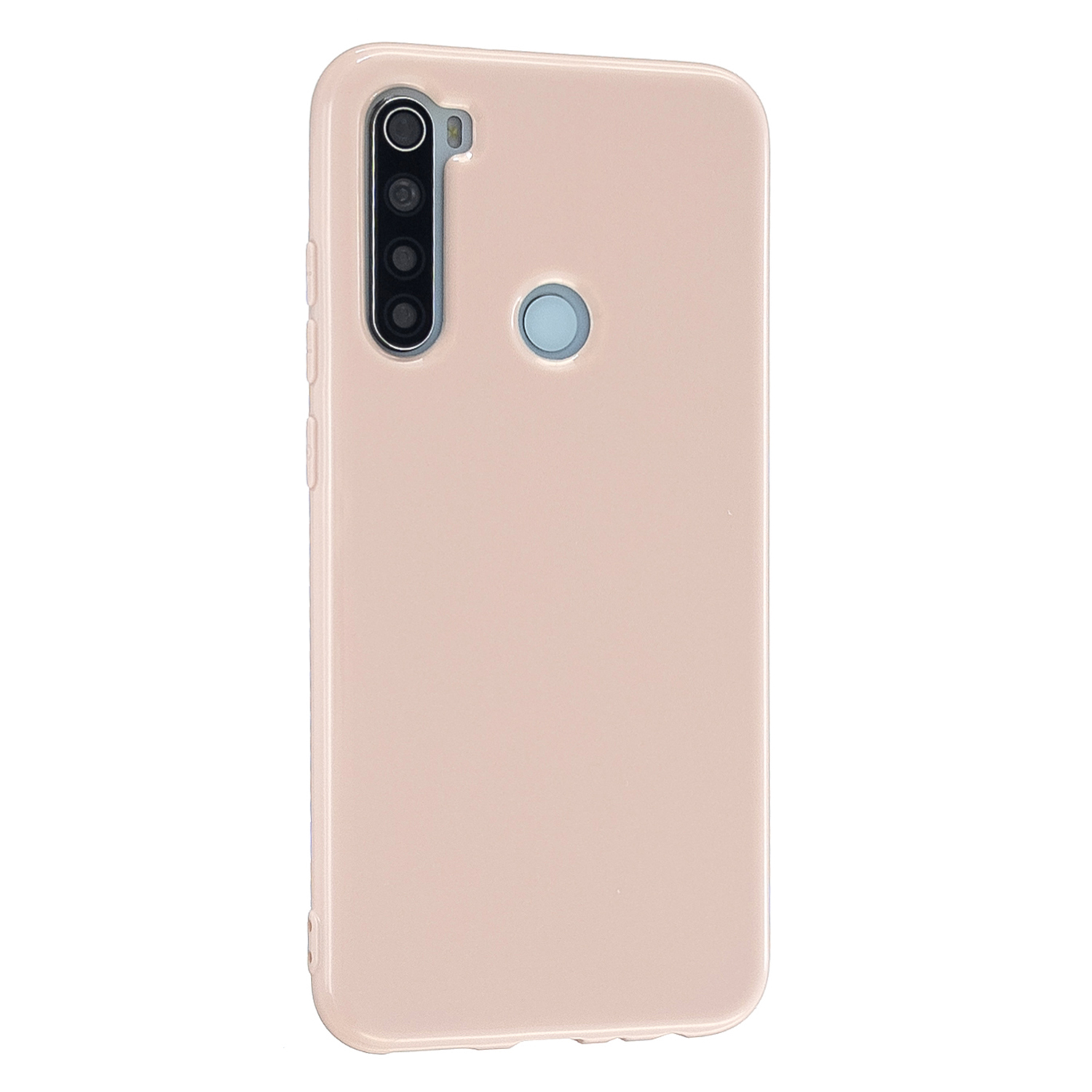 For Redmi Note 8/8 Pro Cellphone Cover 2.0mm Thickened TPU Case Camera Protector Anti-Scratch Soft Phone Shell Pink