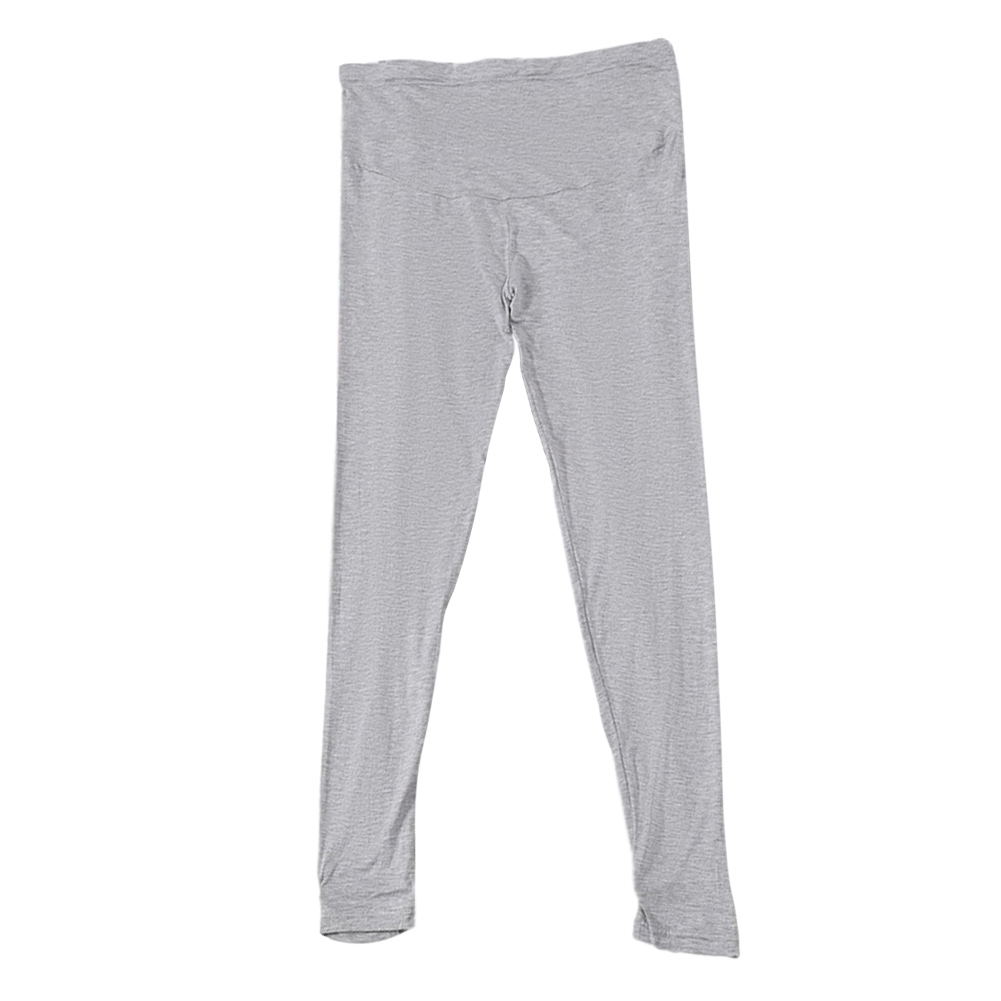 Pregnant Pants Spring Summer Autumn Outerwear Thin Style Modal Loose Casual Foot Trousers light grey_XL