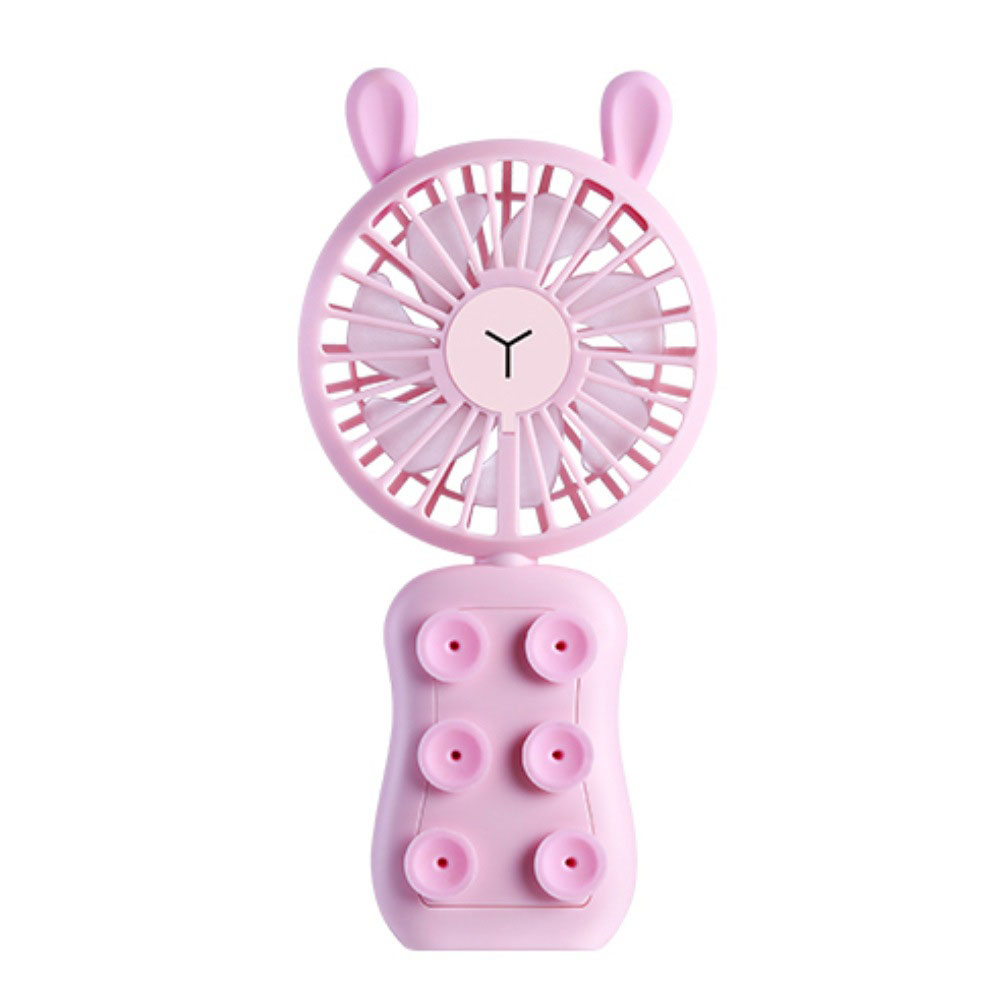 Portable USB Rechargeable Fan Pink