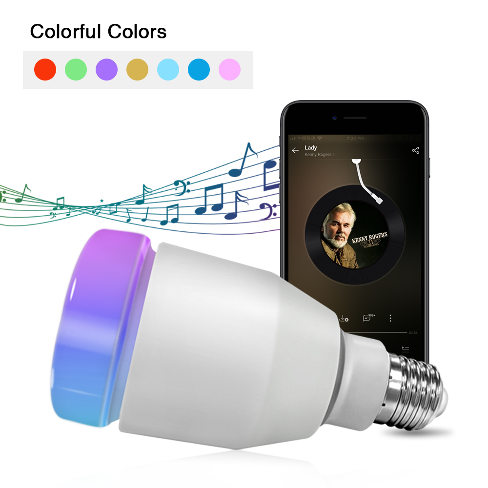 LED Bluetooth Speaker Smart Bulb Light