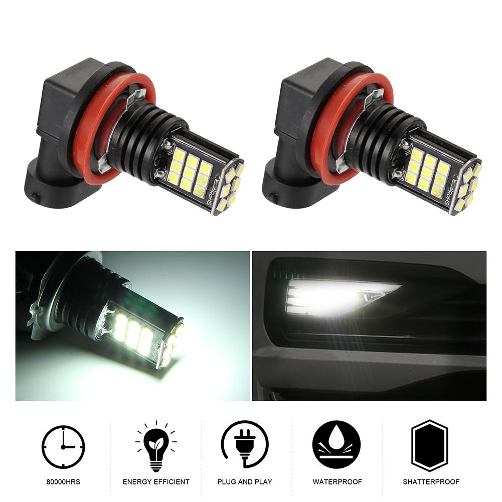 2pcs/set 8 Rows 24SMD High Brightness LED Anti-fog Lights H8/H9/H11