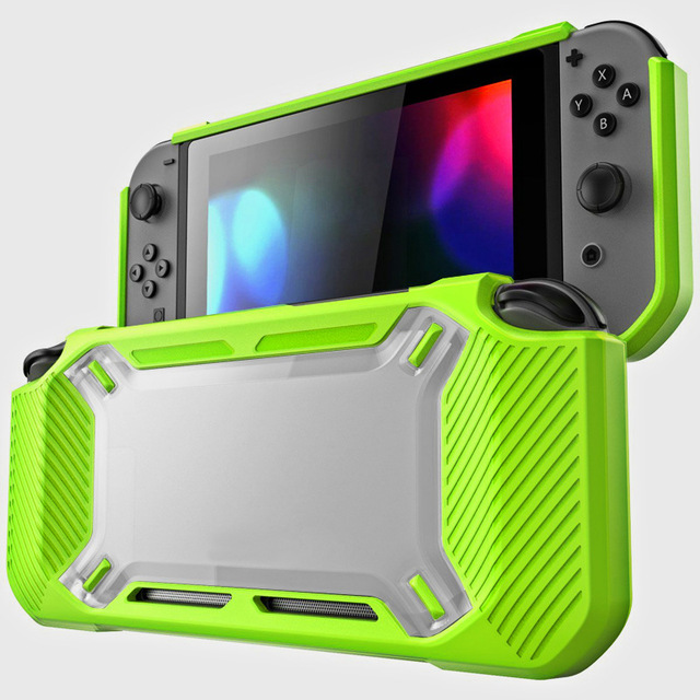 for Nintend Switch Case Rugged Protective Hard Shell green
