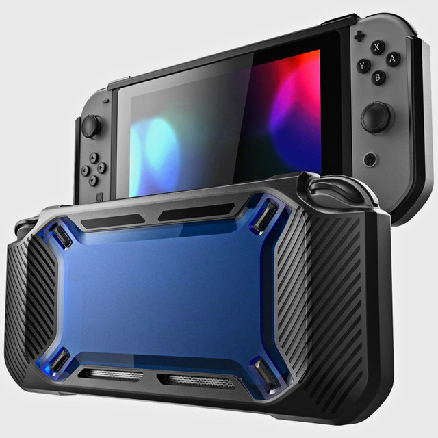for Nintend Switch Case Rugged Protective Hard Shell blue