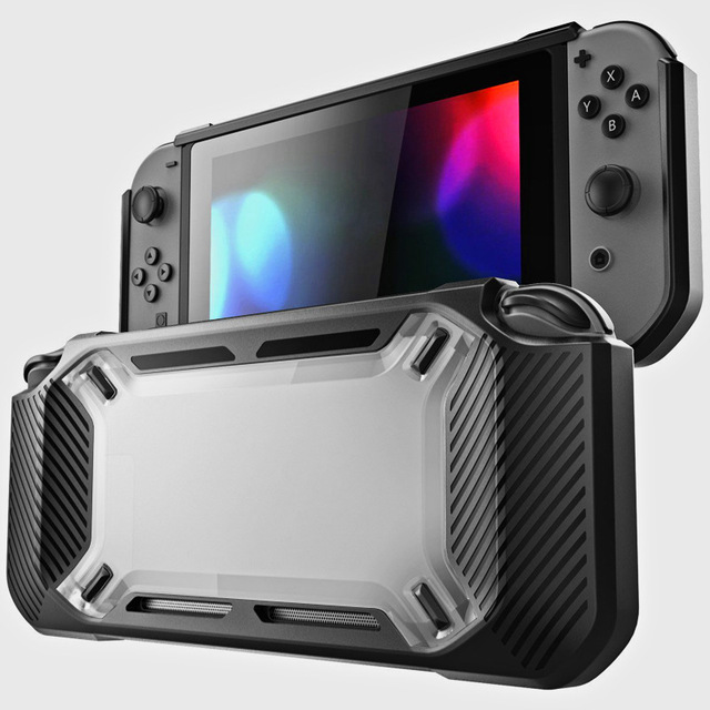 for Nintend Switch Case Rugged Protective Hard Shell Transparent