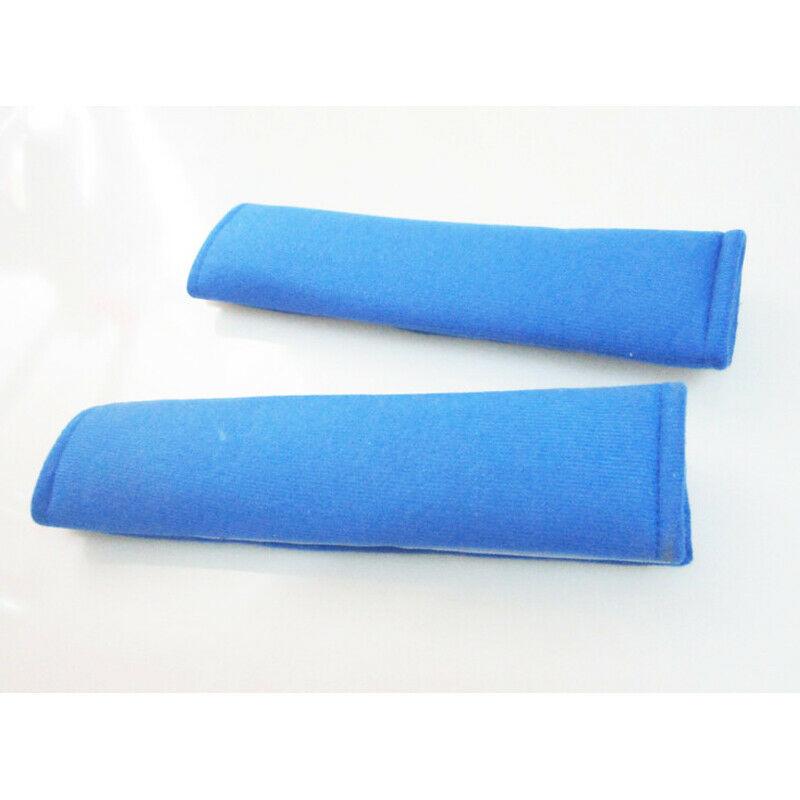 Super Soft Thick Car Seat Belt Safety Belt Shoulder Pad Cover Support for Adult Kids Blue (pair)