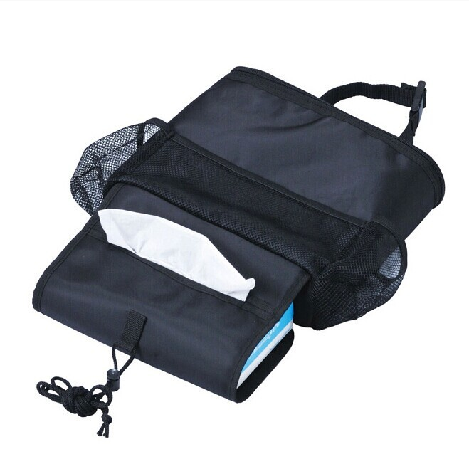 Car Seat Back Box Ice Bag Chair Refrigerated Thermal Storage Bag Container black