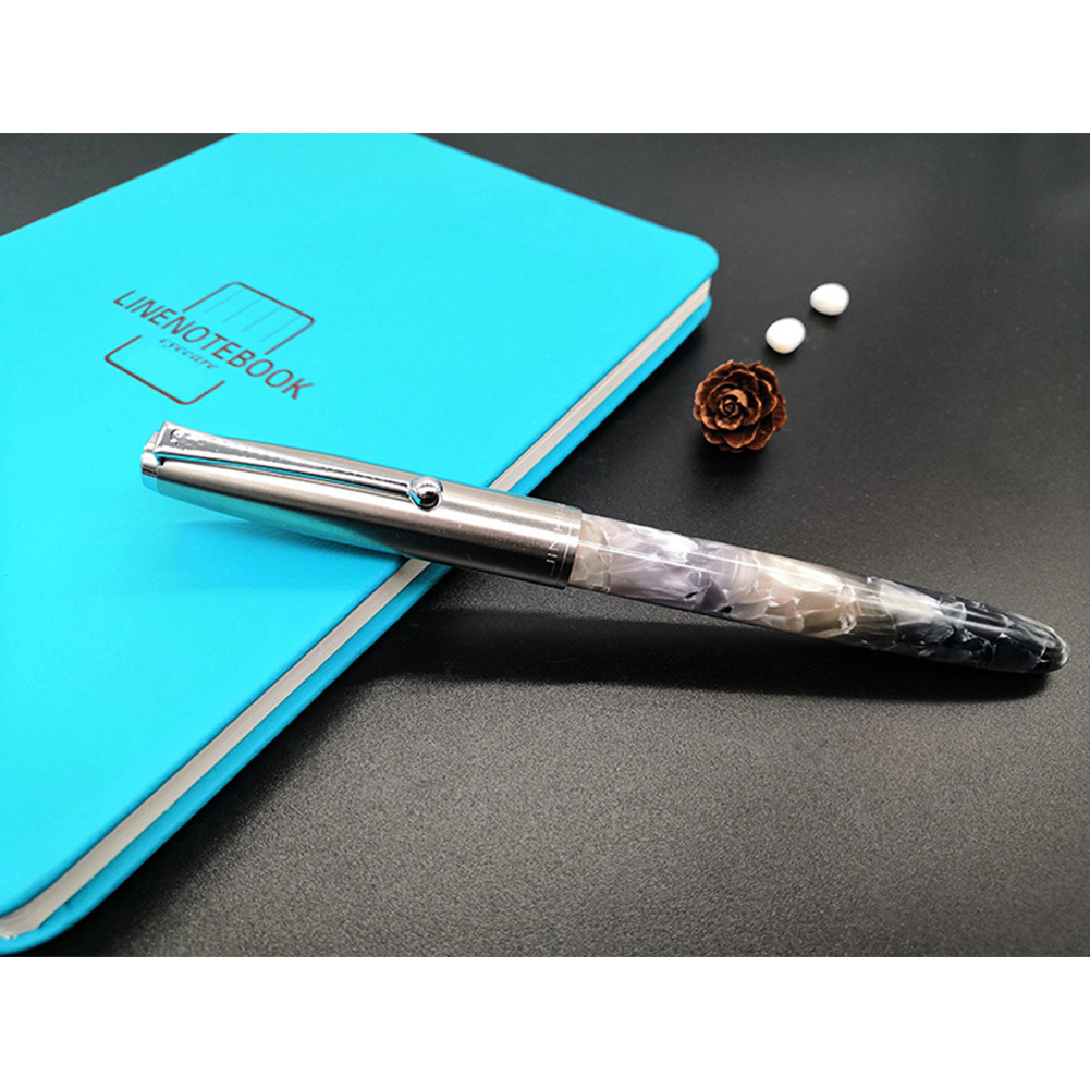 Acrylic Pen Classic Translucent Business Signature Student Pen for School Office Smoke gray acrylic_Bright tip 0.5MM-26 tip