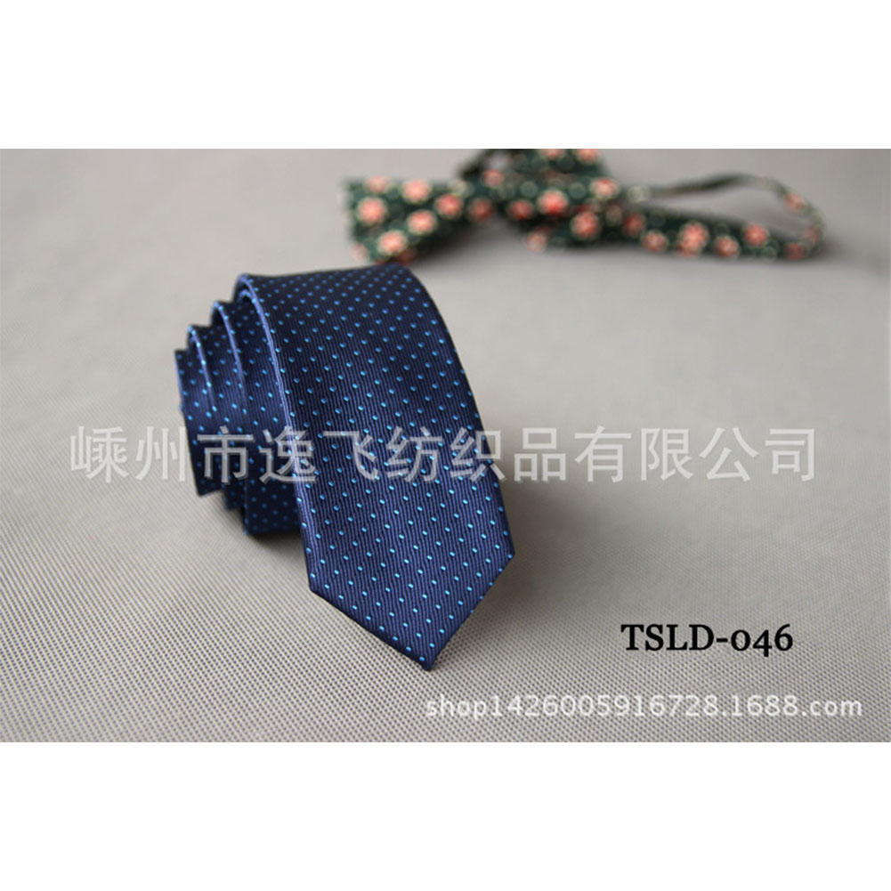 5cm Skinny Tie Classic Silk Solid Dot Narrow Slim Necktie Accessories Wedding Banquet Host Photo TSLD-046