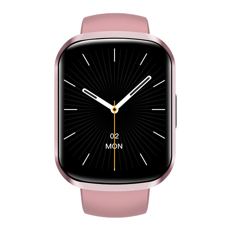 Hw13 Smartwatch Heart Rate Monitor 3d Dynamic Split Screen Display Fitness Band Waterproof Smart Watch Pink