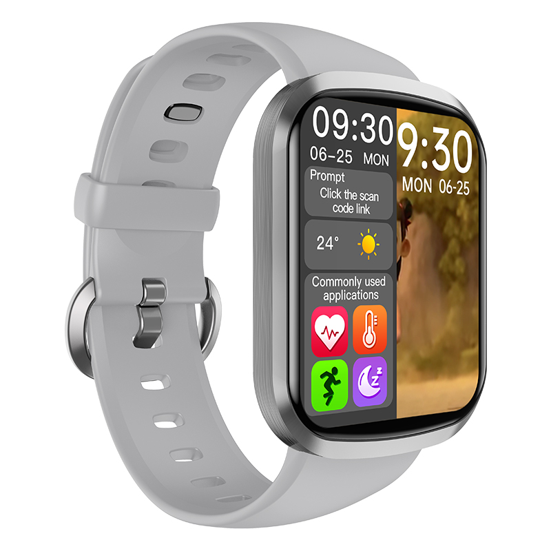 Hw13 Smartwatch Heart Rate Monitor 3d Dynamic Split Screen Display Fitness Band Waterproof Smart Watch gray