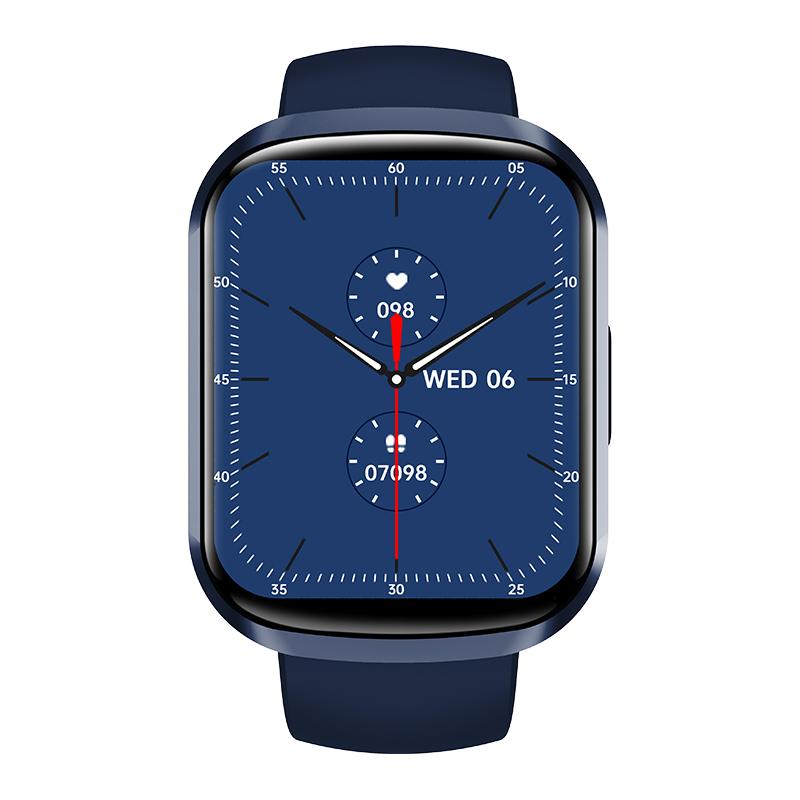 Hw13 Smartwatch Heart Rate Monitor 3d Dynamic Split Screen Display Fitness Band Waterproof Smart Watch blue