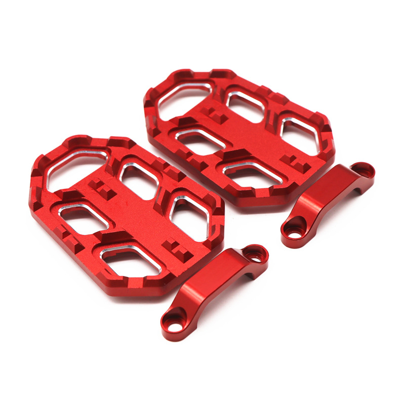 1pair Motorcycle Rear Foot Rear Brake Pedal Racing Foot Pegs FootRests Pedals for HONDA NC700X/S NC750X/S  red